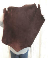 4-6 oz. Mahogany Buffalo Leather Hide for Native Crafts Moccasins Laces Bags