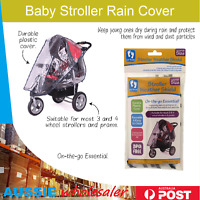 Au Baby Stroller Rain Cover Toddler Baby Pram Insect Weather Stroller Cover