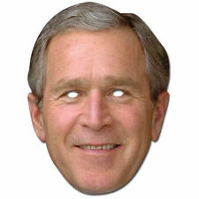 George Bush American President Celebrity Card Mask - All Our Masks Are Pre-Cut!