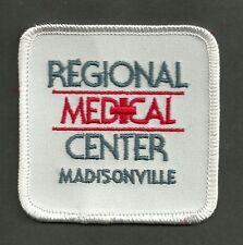 Vintage Regional Medical Center Madisonville Kentucky Movie Costume Prop Patch