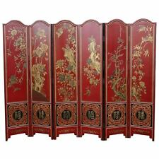 Chinese Red Wedding 6 Panels Room Divider Screen (SN6-Red)