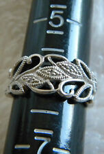 Nice Design Sterling Silver 925 Ring Size 6 Marked RJ 6