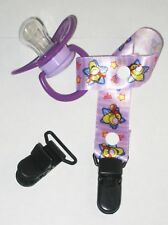 10 BABY PACIFIER BADGE D CLIPS BIB MEMO HOLDER BLACK