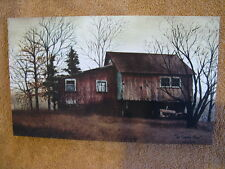 Red Tractor Barn Farm Canvas Wall Decor Painting Primitive Small Billy Jacobs