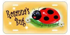 Ladybug Sweetie License Plate Personalize Gifts Ladies Name Daffodil Yellow