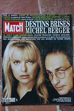 Paris Match 2306 Berger Gall Gere Crawford Furstenberg Béjart Schiffer