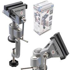 BERGLAND Tisch Schraubstock drehbar und Schwenkbar Backenbreite 70 mm Werkbank