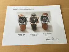 Used in shop - Press Release MASTER COMPRESSOR GEOGRAPHIC Jaeger-LeCoultre