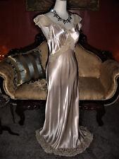 PINK Heavenly Lingerie Fischer Shiny Rayon Liquid Satin Bias Cut Long Nightgown
