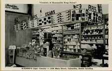 Eckerd's Drug Store Interior View of Cigar Counter Columbia SC Postcard A17