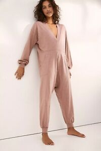 FREE PEOPLE Just Because Jumpsuit in Strawberry Roan, S