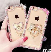 Diamond Rhinestone Kitty Crystal Bling Bumper Case Cover For iPhone XS MAX XR 8+