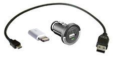 Apple MD820ZM/A Lightning Adapter + Micro USB Kabel 0,3m kurz + KFZ Ladeadapter