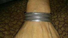 tahe sterling braided cuff bracelet