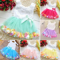 Toddler Baby Kid Flower Girl Tutu Dress Summer Party Princess Lace Tulle Dresses