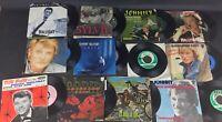 Lot de 11 disques vinyles  45T de Johnny Hallyday