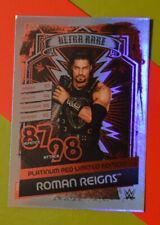 Topps Slam Attax Reloaded WWE LTD card Roman Reigns RARE PLATINUM RED *DEFECT*