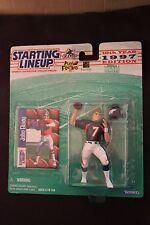 1997 JOHN ELWAY - Starting Lineup Figure - Denver Broncos - w/protective dome