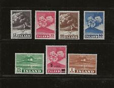 Iceland Stamps MNH, Scott #'s 246-251 + 283