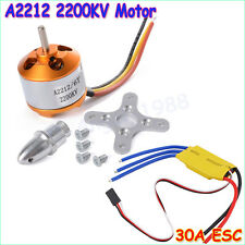 RC 2200KV Brushless Motor A2212-6T + ESC 30A Brushless Motor Speed Controller