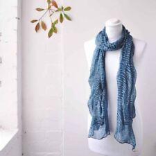 Écharpes et châles étoles bleus en polyester pour femme