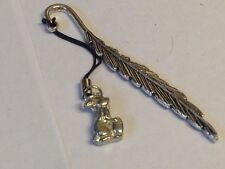 Rabbit & Egg TG320 Fine English Pewter On A FEATHER Bookmark