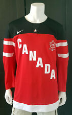 Men Nike 2014 Red Team Canada Jersey 100th Anniversary Crest IIHF sz  Large