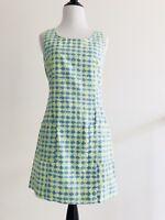 Lilly Pulitzer G2 Womens Sleeveless Sheath Dress Size 2 Blue Cotton Peasant