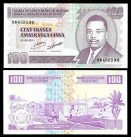World Paper Money - Burundi 100 Francs 2011 P44 @ Crisp UNC