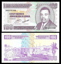 World Paper Money - Burundi 100 Francs 2011 P44 @ Crisp UNC