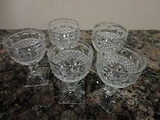 VINTAGE SET 5 COLONY PARK INDIANA GLASS CRYSTAL STEMWARE SHOT DRINKING GLASSES