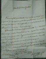 1832 PREFILATELICA DA FIRENZE A MARRADI A GIUSEPPE CAVINA PRATESI