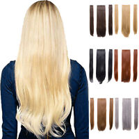 3 Three Piece Strip Clip in Straight Hair Extension in 24'' Heat Resistant