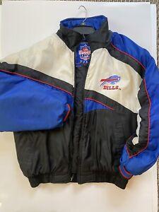 Game Day NFL Buffalo Bills Zipper Puffy Hooded Jacket Size: Large 1995 Logo 7