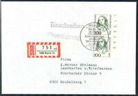 Berlin Mi.-Nr. 849 Seitrand - als Mehrfrankatur - MeF - FDC per Einschreiben