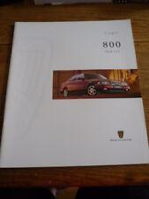 ROVER 800 PRESTIGE CAR BROCHURE 1997