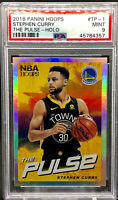 Stephen Curry 2018-19 Panini NBA Hoops The Pulse Silver Holo PSA 9 MINT POP 3