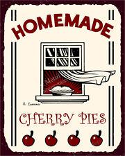 (VMA-L-6509) Homemade Cherry Pies Vintage Metal Art Retro Tin Sign