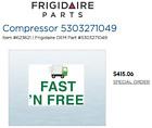 Frigidaire 5303271049 Air Conditioner Compressor - Kenmore, Westinghouse, Gibson photo