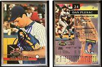 Dan Plesac Signed 1993 Stadium Club #24 Card Milwaukee Brewers Auto Autograph