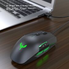 Programmable Breathing Colorful Led Braided Wire 4000Dpi 8 Buttons Gaming Mouse