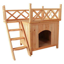 Wooden Pet House Cat Room Dog Puppy Large Kennel Indoor Outdoor Shelter Us