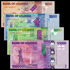 Uganda 6 PCS (2015),5 10 20 50 100 200 Shillings,UNC
