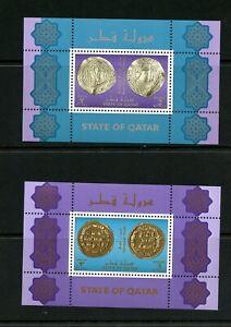 V888  Qatar  1999   Ancient Coins   sheets   MNH