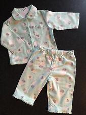 BNWT Baby Girls Sz 0 Mint Sheep Print Long Style Flannel Winter Style PJ Pyjamas