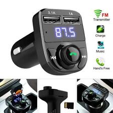 More details for uk car wireless bluetooth fm transmitter mp3 player usb car fast charger adapter