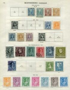 MONTENEGRO: 1893-1910 Examples - Ex-Old Time Collection - 2 Sides Page (41618)