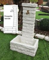 BONFANTE Fontana Fontanella da giardino pietra ricostruita MEMPHIS Grigio