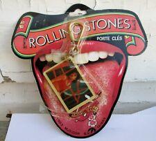 The Rolling Stones Porte-Cl/és Classic Tongue Band Logo Embroidered Nouveau
