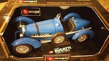 1934 Burago Bugatti Type 59 1/18th Scale Die Cast Model Car (NEW IN THE BOX)